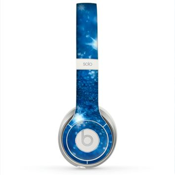 The Unfocused Blue Sparkle Skin for the Beats by Dre Solo 2 Headphones