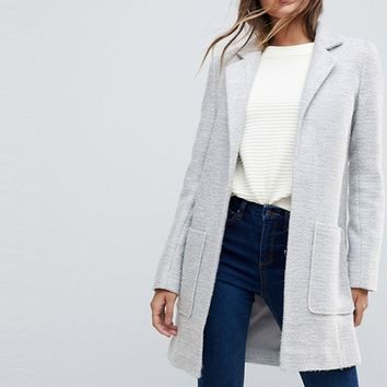 ASOS DESIGN slim coat in texture at asos.com