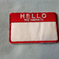 90s Hello My Name Is Slacker Grunge Iron On by DharmaBumVintage