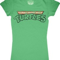 TMNT Teenage Mutant Ninja Turtles Juniors T-Shirt Tee Green