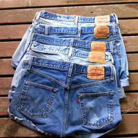 MYSTERY SHORTS Vintage Levi's 501 Button Fly Cut Off Distressed Denim Frayed Jean Shorts Choose Your Size 4 6 8 10 12 14 S  M L XL