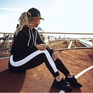 Women Yoga Running Sport Pants High Waist Workout Leggings Fitness Trousers
