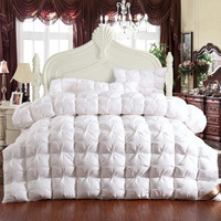 New Arrival 100% white duck/goose down Warm Winter Comforter Queen/King Size Quilt 200x230cm/220x240cm