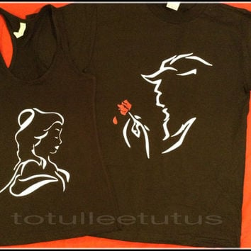 Super CUte Matching Beauty and The Beast Shirts for Any Loving Couple Inspired Disney Beauty and The Beast