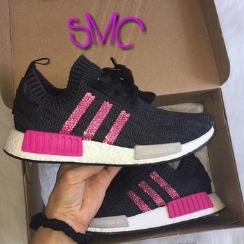 Swarovski adidas nmd Trainers Customized Adidas Sneakers Authentic Women's Trainers