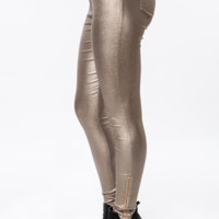 Off Duty Jeggings Pants - Gold