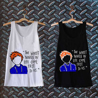Ed Sheeran The A Team Lyric Cartoon best customized design for Tank top Mens and Tank top Girls , sizes S - XXL