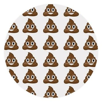poop emoji Round Tablecloth