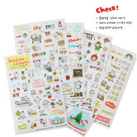 Korea Sticker Cute Pig Travel Series PVC Sticker For DIY Scrapbook Diary Phone Decoration Paper Sticker Kids Gifts TS004