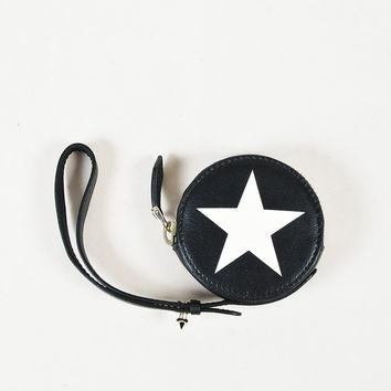 Givenchy Multicolor Leather Star Printed Wristlet Coin Case