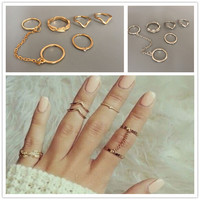 accessories jewelry  Chevron midi rhinestone finger ring set gift for  girl  R1425