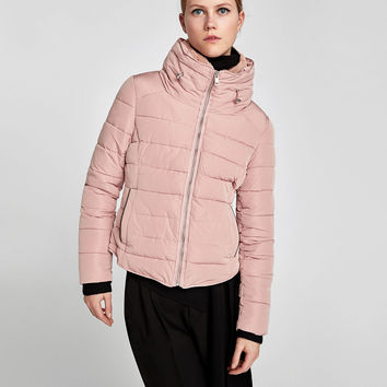 QUILTED JACKET WITH HIDDEN HOOD