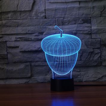 Acorn 3D LED Night Light Lamp