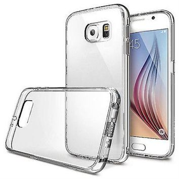New Shockproof Silicone Protective Clear Case Clear Transparent For Samsung Galaxy S6 Edge