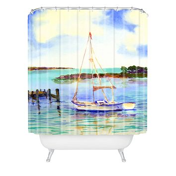 Laura Trevey Summer Sail Shower Curtain