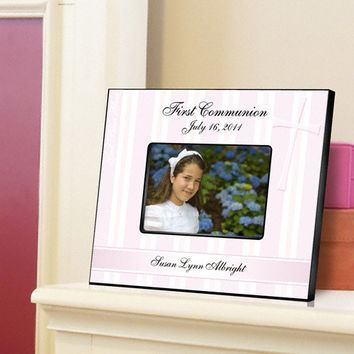 First Communion Picture Frame - God Bless