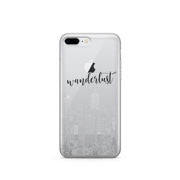 CLEARANCE iPhone 7 / 7 Plus Clear Case Cover - City Wanderlust