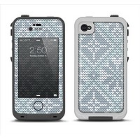 The Knitted Snowflake Fabric Pattern Apple iPhone 4-4s LifeProof Fre Case Skin Set