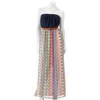 Lily Rose Geometric Maxi Dress - Juniors