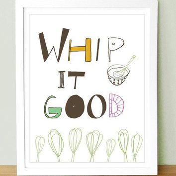 Whip It Good 8x10 by UUPP on Etsy