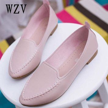 2018 spring and summer new pointed toe women shoes with single shoes female wild flat shoes student Peas shoes B137