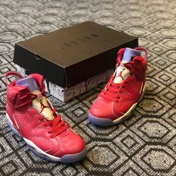 Air Jordan 6 Custom ¡°Slam Dunk¡± Men Basketball Shoes Sneaker