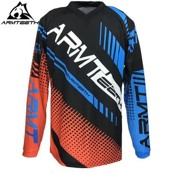 2017 Armteeth Motocross Jersey Off Road T-Shirt MTB DH Clothes Bicycle Cycling Jersey MX Size S-4XL