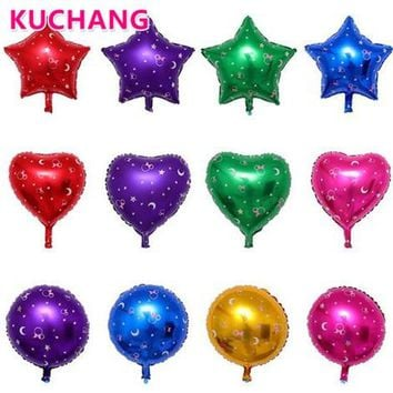 8pcs/lot 18inch Star Heart Round Shaped Aluminum Foil Balloons Printed Moon Minnie Mickey Mouse Wedding Birthday Party Decor