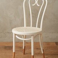 Scrolled Bentwood Dining Chair, Heart by Anthropologie in Cream Size: Heart Furniture
