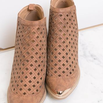 Whiskey Cutout Booties