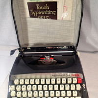 Remington 333 Portable Typewriter Sperry Rand zipper case Operating Instruction manual Remington type course Touch Typing Self-taught book