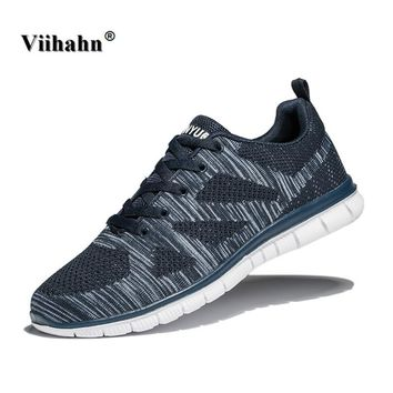 Viihahn Mens Running Shoes Summer Breathable Sports Shoes Lightweight Outdoor Sneakers Man Athletic Walking Shoes Plus Size 47