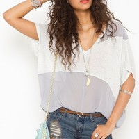Haze Chiffon Tee in What's New at Nasty Gal