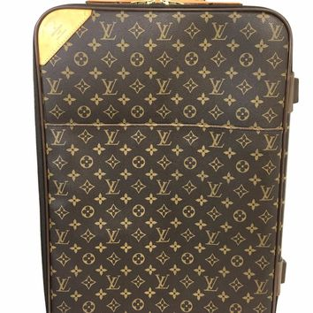 LOUIS VUITTON Monogram Pegase 55 Suitcase Roller Luggage