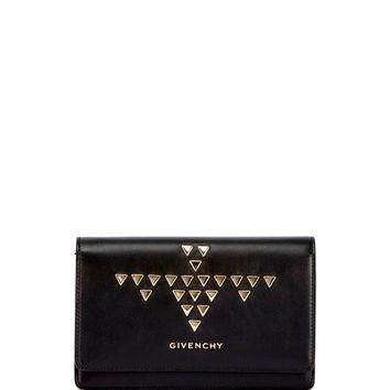 Givenchy Pandora Studded Wallet-on-a-Chain, Black