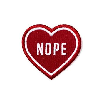 Nope Heart Patch - Red