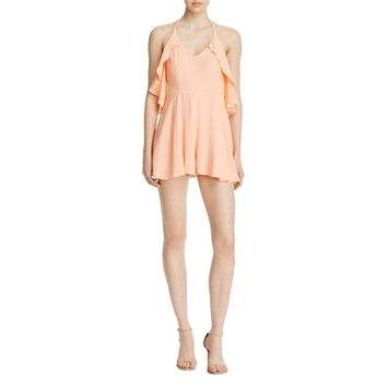 Mustard Seed Womens Strappy Popover Romper
