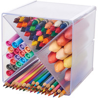 """Stackable X-Divided Storage Organizer-6""""""""X6""""""""X6"""""""" Clear - Case Pack of 6"""