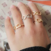 8 LOVE 8 simple glossy letters Ring 15010127 by CHIQ CLUB