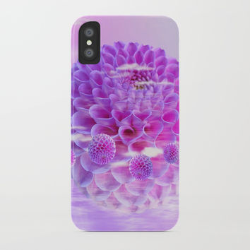 Purple Dahlia iPhone Case by Knm Designs