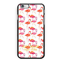 New Kate Spade Pink Flamingo Print On Hard Case For iPhone 6s 6s plus 5/5s 4/4s