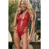 Five Straps Back Red Sexy Woman Babydoll Teddy New Christmas Lingerie Mature WomenThe Most Seductive Sexy Lingerie L8035-2