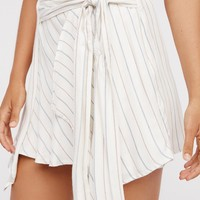 Free People Blue Skies Striped Mini Skirt