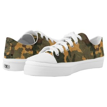 Vintage green Camouflage... Low-Top Sneakers