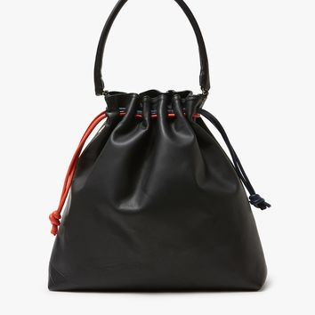 Clare V. / Grand Henri Maison in Black Slate/Navy/Poppy