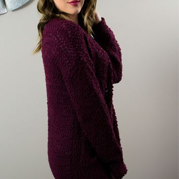 Treat Yourself Cardigan - Burgundy