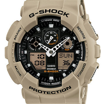 Casio G-Shock Military Sand Mens Watch - Desert Beige Resin Case and Strap