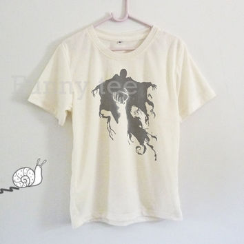 Dementor ghost deer Harry Potter for kids toddlers boys girls clothing **short sleeve shirt crewneck **off white tee size S M L XL