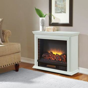 Hampton Bay Derry 32 in. Compact Infrared Electric Fireplace in White-25-791-50-Y - The Home Depot