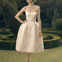 Casablanca Bridal 2182SG Tea Length Wedding Dress